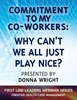 Commitment to My Co-Workers: Why Cant We All Just Play Nice? - Webinar