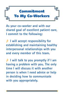 Commitment to My Co-Workers© Health Care Card - M501