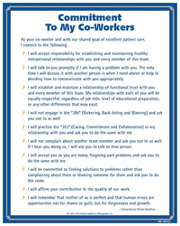 Commitment to My Co-Workers© Health Care Poster