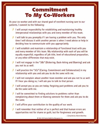 Commitment to My Co-Workers© Nursing Poster