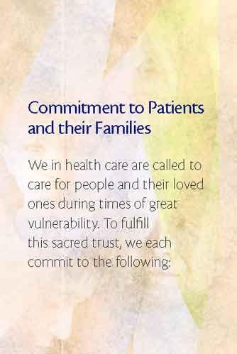 Commitment to Patients and Their Families Card